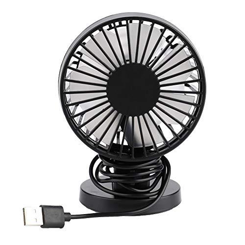 Jadpes Ventilatore da Tavolo, 1Pc Mini USB Doppia Foglia Regolabile velocità del Vento Ventole silenziose per dormitorio per Studenti a casa