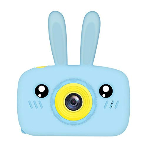 Grifo K9 Bunny Children Camera con Tarjeta de Memoria 16G Cute Cartoon Camera Toys Azul