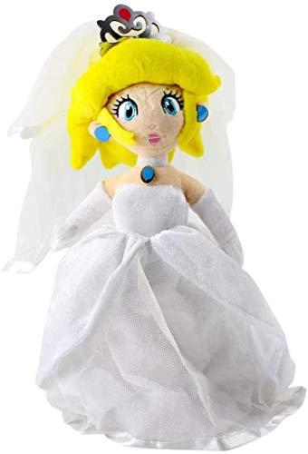 DINEGG Super Mario Prinzessin Plüsch Spielzeug 27 cm Mario Pfirsich Rosalina im Hochzeitskleid Kostüm Party weiche Plüschpuppe für Kinder YMMSTORY