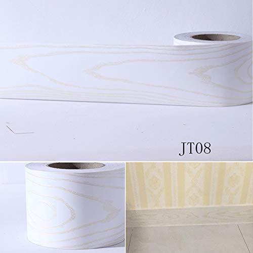 SMXGF 0.1mx5m Waist Line muursticker interieur Keuken Toilet waterdichte PVC zelfklevend behanggrens Kamers Marble Stickers (Color : JT08, Size : 10cm x 5m)