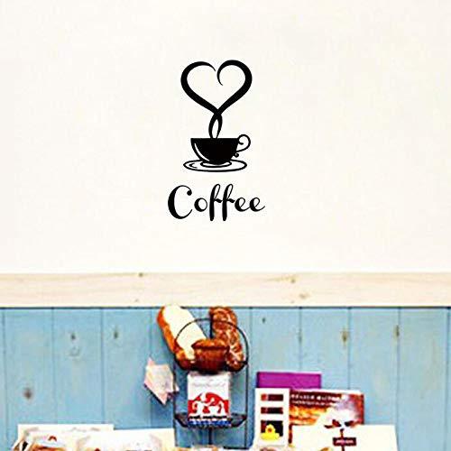 Gouc Personalizable Comercio Exterior AliExpress Taza de Café Pegatinas de Pared Decoración Pequeño Papel Adhesivo Café 20X12 Cm