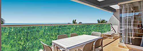 Deco4Me Balkonbespannung 90x500cm Sichtschutz Windschutz Balkonverkleidung Zaun Grün