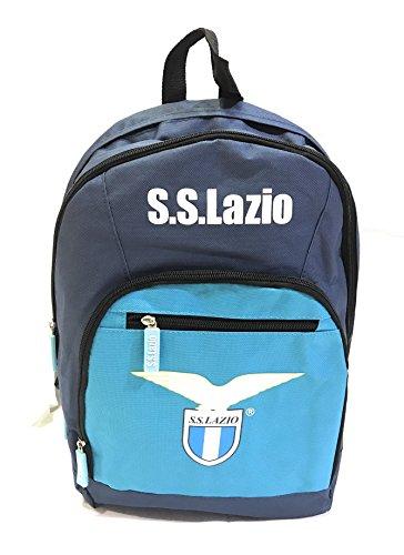 Zaino scuola ufficiale SS LAZIO con zip - 3 scomparti -