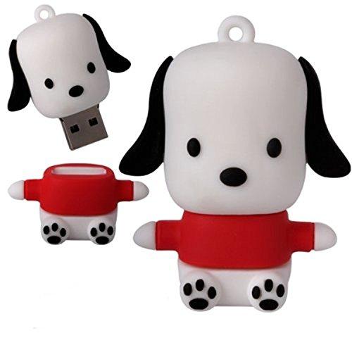 WooTeck 32gb Cartoon Novelty Dog Puppy USB Flash Drive Pendrive