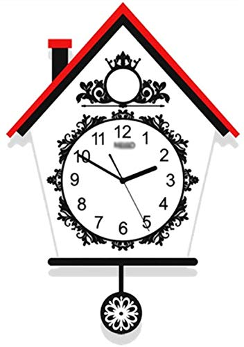 PLH Reloj Animal Creativo Encantador de los niños Dormitorio Reloj Sala de Estar Casa Cuarzo Mudo Reloj 58-77CM Decorar, 48 * los 77CM Reloj (Size : 48 * 77CM)
