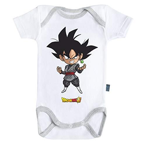 Baby Geek Black Goku - Dragon Ball Super ™ - Licence Officielle - Body Bébé Manches Courtes (6-12 Mois)