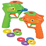 ArtCreativity Foam Disc Launcher, Set of 2 Disk Shooter Toy Guns with 1 Gun and 5 Flying Disks Each, Outdoor Games and Activities for Summer, Backyard, and Picnic Fun, Best Gift Idea