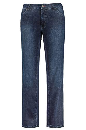 JP 1880 Herren große Größen bis 70, Jeans, 5-Pocket FLEXNAMIC®, super-elastischer Denim, Gerade geschnittenes Bein, schmalere Fußweite, darkblue 60 722849 93-60