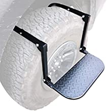 OKLEAD Portable Tire Step for Pickup SUV Tire Mounted Auto Step Over Tire Climber Step fits Max 14.4