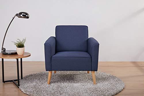 Amazon Marke - Movian Scutari, Akzentstuhl, 75 x 78 x 78, Blau