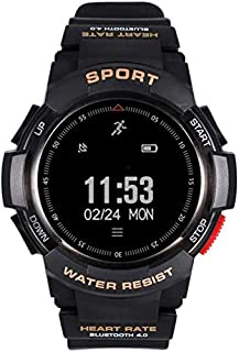 XYCSM Fitness Tracker F6 Smart Watch/Heart Detection Watch Ip68 Sports Watch Pantalla de Reloj 1 Pulgada Profundidad Impermeable a Prueba de Agua Se Puede Usar Submarino Sport Fitne