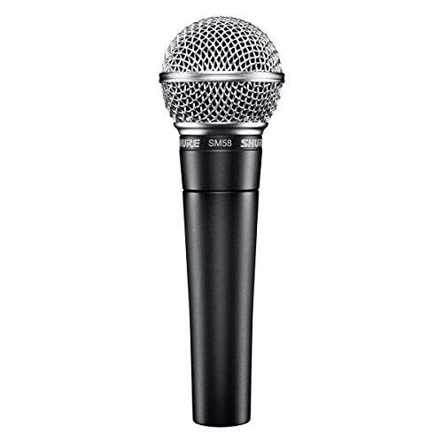 Shure SM58-LCE El micrófono de voz dinámico está diseñado para el uso profesional en voces en actuaciones en vivo, refuerzo de sonido y grabaciones de estudio - (No se incluye el cable)