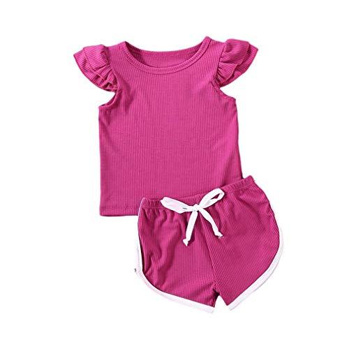 Yingshu 12M-5años Recién Nacido Bebé Niños Niñas Niños Camiseta Tops+Pantalones Cortos 2piezas Trajes Conjunto Ropa