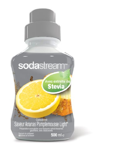sodastream 30038084 - Concentrado para máquina de refrescos (500 ml, Sabor piña y Pomelo Light Stevia)