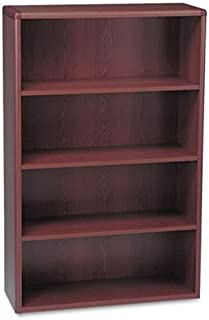 HON 10700 Series Wood Bookcase, Four Shelf, 36w x 13 1/8d x 57 1/8h, Mahogany