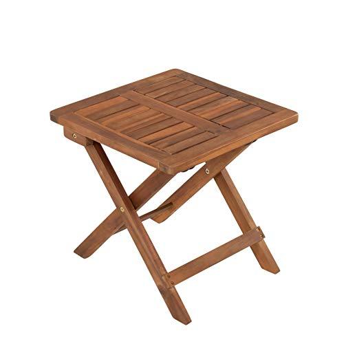 ESTEXO Beistelltisch Holztisch Lounge Tisch Kaffeetisch Gartentisch Klapptisch Akazie Holz Balkontisch Akazienholz Teetisch 40 x 40 cm