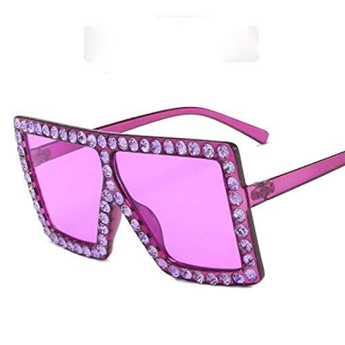 SHANGYUN Gafas De Sol para Mujer Cuadradas Mezcladas Colores Oversized Shade Eyewear B-Violeta