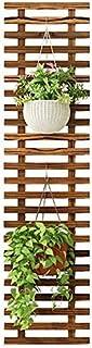 収納棚フラワースタンドグリッド木製フラワーポットラック/棚壁バルコニーリビングルームデコレーショングリーンロルハンギングインドアフラワーラック(サイズ:29 120cm)