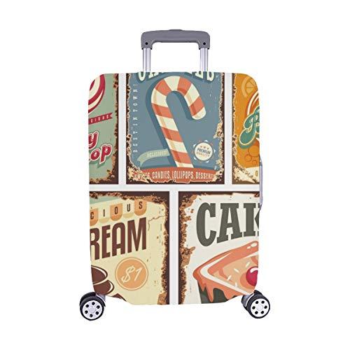(Solo Cubrir) Vintage Candy Shop Collection Carteles de Chapa Carteles de Chapa Maleta de Viaje Protector de Maleta Cubierta Protectora para Protectora para 28.5 X 20.5 Inch