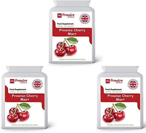 Cherry Max 750mg 90 Cápsulas - Paquete de 3 Por Prowise Healthcare