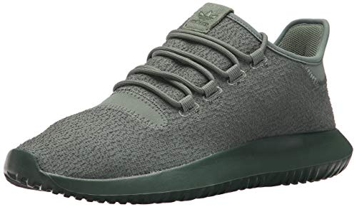 adidas Originals Men's Tubular Shadow Running Shoe, Trace Green/Trace Green/Tactile Yellow, 4