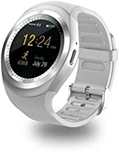 Y1 SmartWatch Touch Screen Support Micro SIM Card with Bluetooth 3.0 Camera Sleep Monitor Outdoor Fitness for iOS Android (Silver)