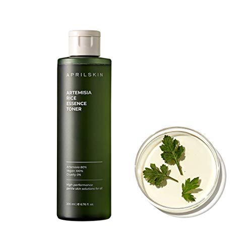 APRILSKIN Artemisia Rice Toner | Dry, sensitive, acne-prone skin | Vegan, Cruelty Free, Low pH, calming & firming up | 6.76 oz | No sulfates and artificial fragrance