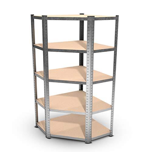 Estantería modular de angulo de metal - carga hasta 750 kilogramos -...