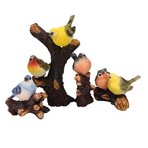 Fdit 4-delig/set gazon tuin erf hars hoge simulatie vogel decoratie dier ornament tuin decor MEERWEG AANBIEDING
