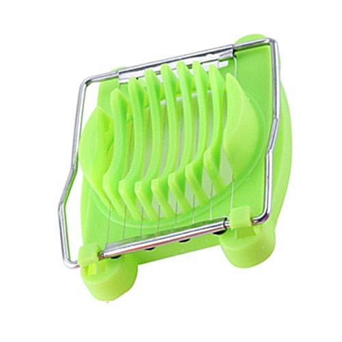 Multifunktionaler Eierschneider aus Edelstahl Eierschneider Eiertrenner Küchengeräte Grundausstattung (grün)