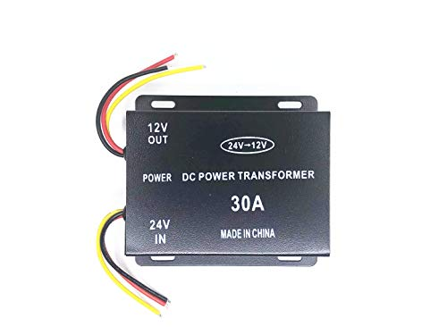 トラック用DC-DCコンバーター DC24V→12V 30A デコデコ変換 DC電圧変換器 (30A)