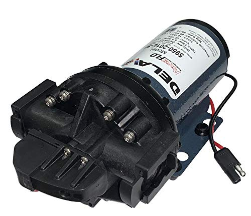 Delavan 5950-201E-SB Diaphragm Pump 12V, 60PSI, 5.0GPM, Demand Pump 3/4' Quick Attach