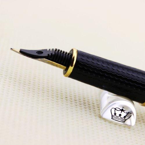 Gullor Easy Writing HERO 704 Iridium Fountain Pen with Golden Ring