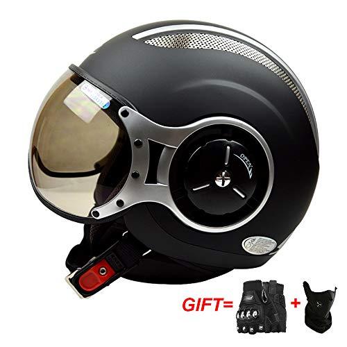 Motorradhelm Motorrad Roller Jet Demi Helm Scooter Homologiert Avio Visor Weiss S