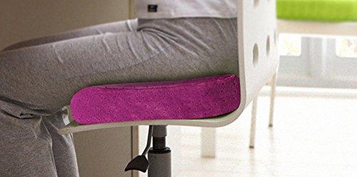 Coussins pour douleurs de dos Home Office Canapé de voiture Café de coussinets en mousse souple Coussin de siège violet