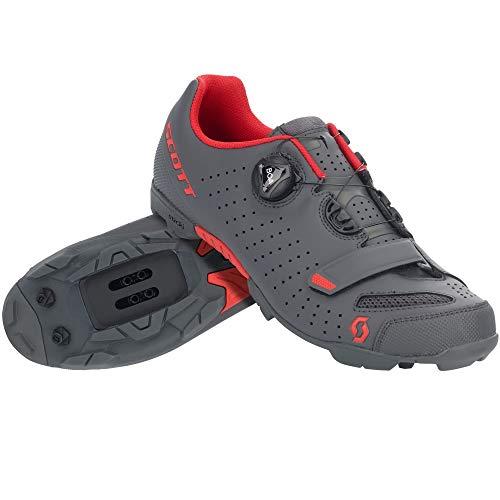 Scott 275894 - Zapatillas de Ciclismo para Hombre, Talla M, Dk gr/Red, 42.0