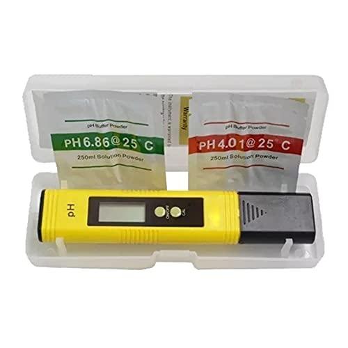 DADAKEWIN LCD Digital PH Meter PENSO Tester PERSECURACIÓN 0.01 Aquarium Piscina Agua Agua Vino DE URÍA CALIBRACIÓN AUTOMÁTICA (Accuracy : 0.01, Color : Yellow)