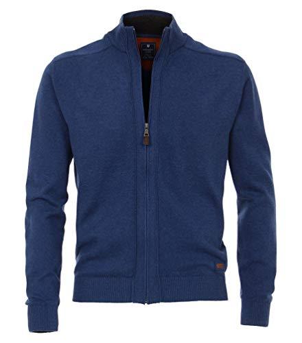 Redmond Cardigan/Strickjacke mit Zipper Jeansblau, Größe: XL