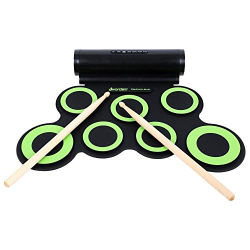 Great Features Of Electronic Roll Up MIDI Drum Kit DTX Game With 7 Silicon Pads Headphone Jack Elect...