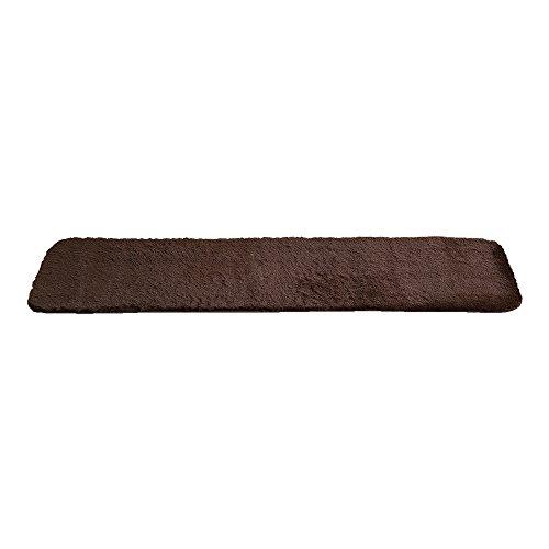 おしゃれでシンプル 洗えるキッチンマット Lサイズ ブラウン(50×240cm・滑り止め付・ラグマット・リビングマット・長方形・ウォッシャブル・防音)