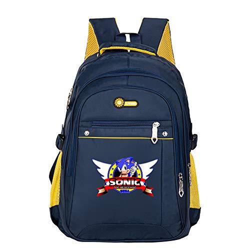 Sonic The Hedgehog Freizeitrucksack Daypack Rucksack-Schultasche Wandern Jungen und Mädchen Trekking-Rucksack Trend Fashion Sports Wild Style Rucksack für Kinder und Jugendliche