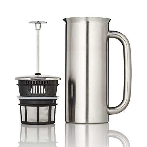 ESPRO 1118C2 Coffee Press P7-18 oz, Double Wall Vacuum Insulated, Brushed Stainless Steel