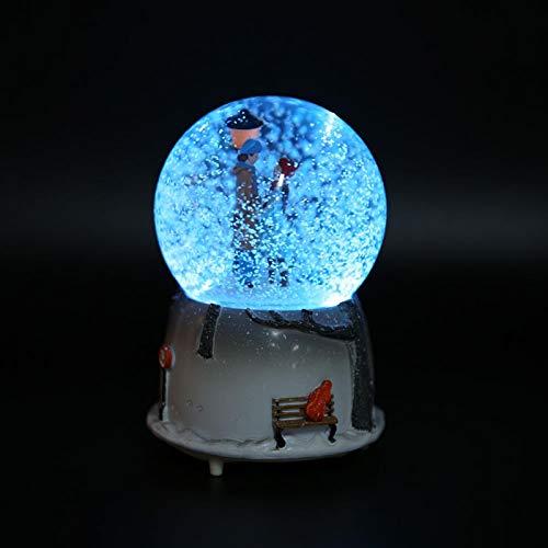 Globo de neve musical, bola de música, caixa de música de flocos de neve, presente para crianças