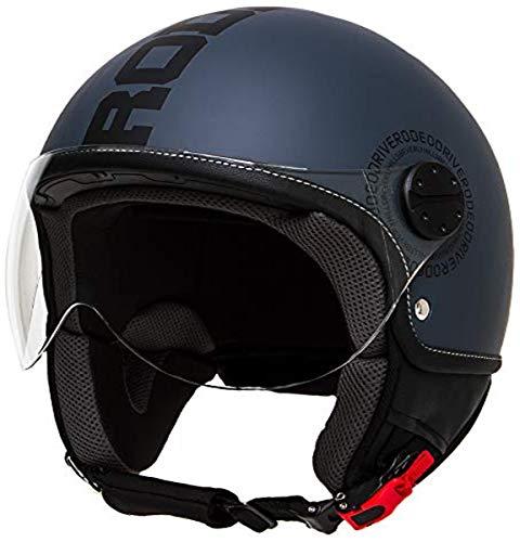 Rodeo Drive RD112 casco scooter con visiera elicotterista; antracite - nero; large