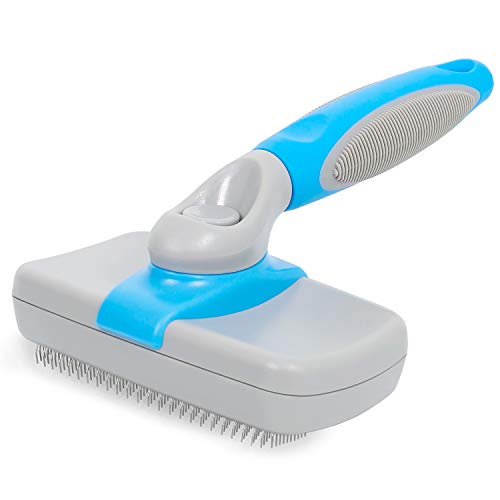 Dog Brush Self Cleaning Dog Slicker Brush Pet Grooming Shedding Tool Brush Cat Brush, Gently Removes Loose Undercoat, Mats and Tangled Hair for Short and Long Hair
