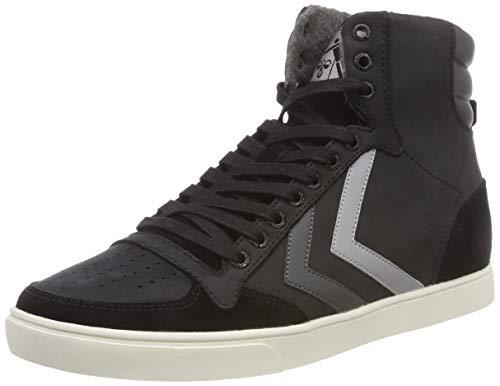 hummel Unisex-Erwachsene Slimmer Stadil Duo Oiled HIGH Hohe Sneaker, Schwarz (Black 2001), 44 EU