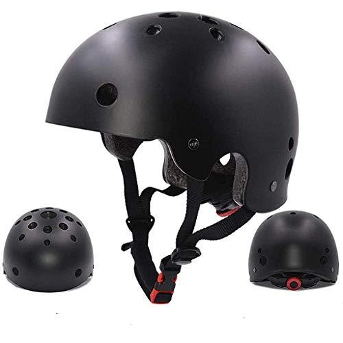 ヘルメット 登山用 EPS+PC製 防護帽 軽量 サイズ調整可能 沢登り ロック クライミング キャンプ アウトドア 装備 安全保護 消防救援 洞窟探検 スケートボード ヘルメット (ブラック,頭囲は55−59cm)