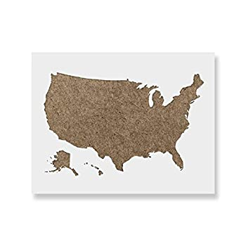 United States Map Stencil Template for Walls and Crafts - Reusable Stencils for Painting in Small & Large Sizes