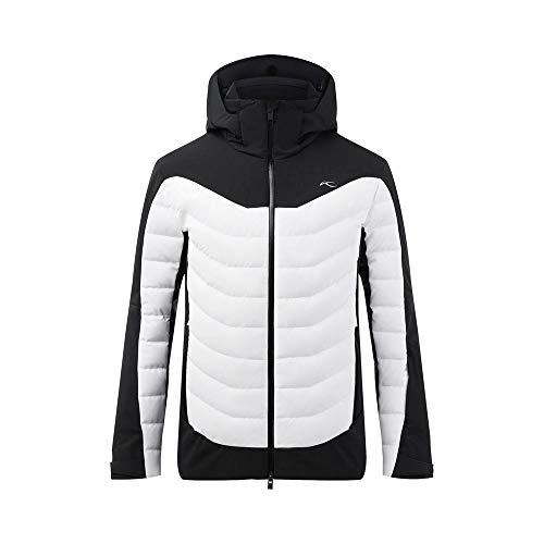 KJUS Men Sight Line Jacket Schwarz-Weiß, Herren Daunen Isolationsjacke, Größe 48 - Farbe Black - White