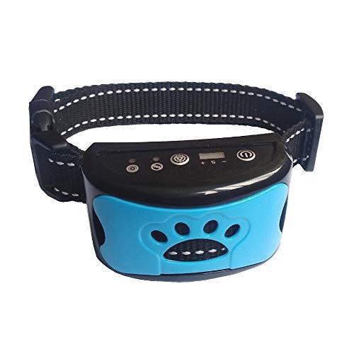 iHoM Antibell Halsband Hund, Wiederaufladbares No Harm Trainingshalsband Hund mit Vibration, Sound und No-Schock für Kleine Mittelgroße Hunde